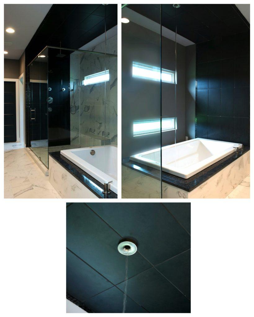 Modern Black & White Master Bath