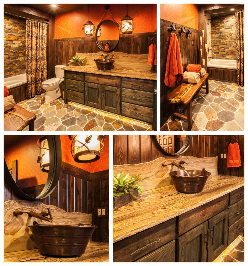 Rustic Guest Bath
