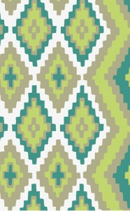 Alameda Rug by Surya show Spring colors in green grass and teal spring-water