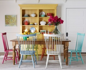 Ethan Allen American Colors features bright painted furniture in Springtime hues