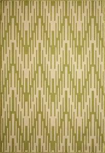 Momeni BAJA green ikat chevron indoor outdoor rug