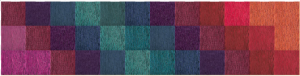 "FLOR customizable carpet square runner in ""Made You Look"""