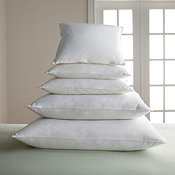 feather and down filled pillows