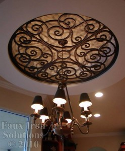 Ceiling Faux Iron