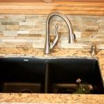 Undermount black Silgranit sink