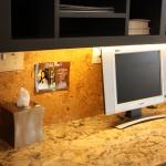 Cork Flooring as Desk Backsplash