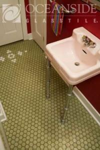 Glass Tile Floor