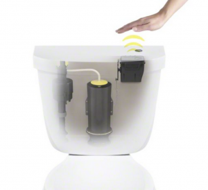 Touchless  flush diagram