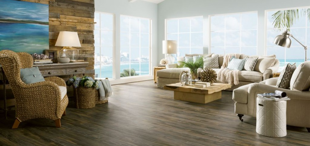 Armstrong Laminate Flooring looks like weathered wood. Coastal Living Patina Reserve Premium Collection