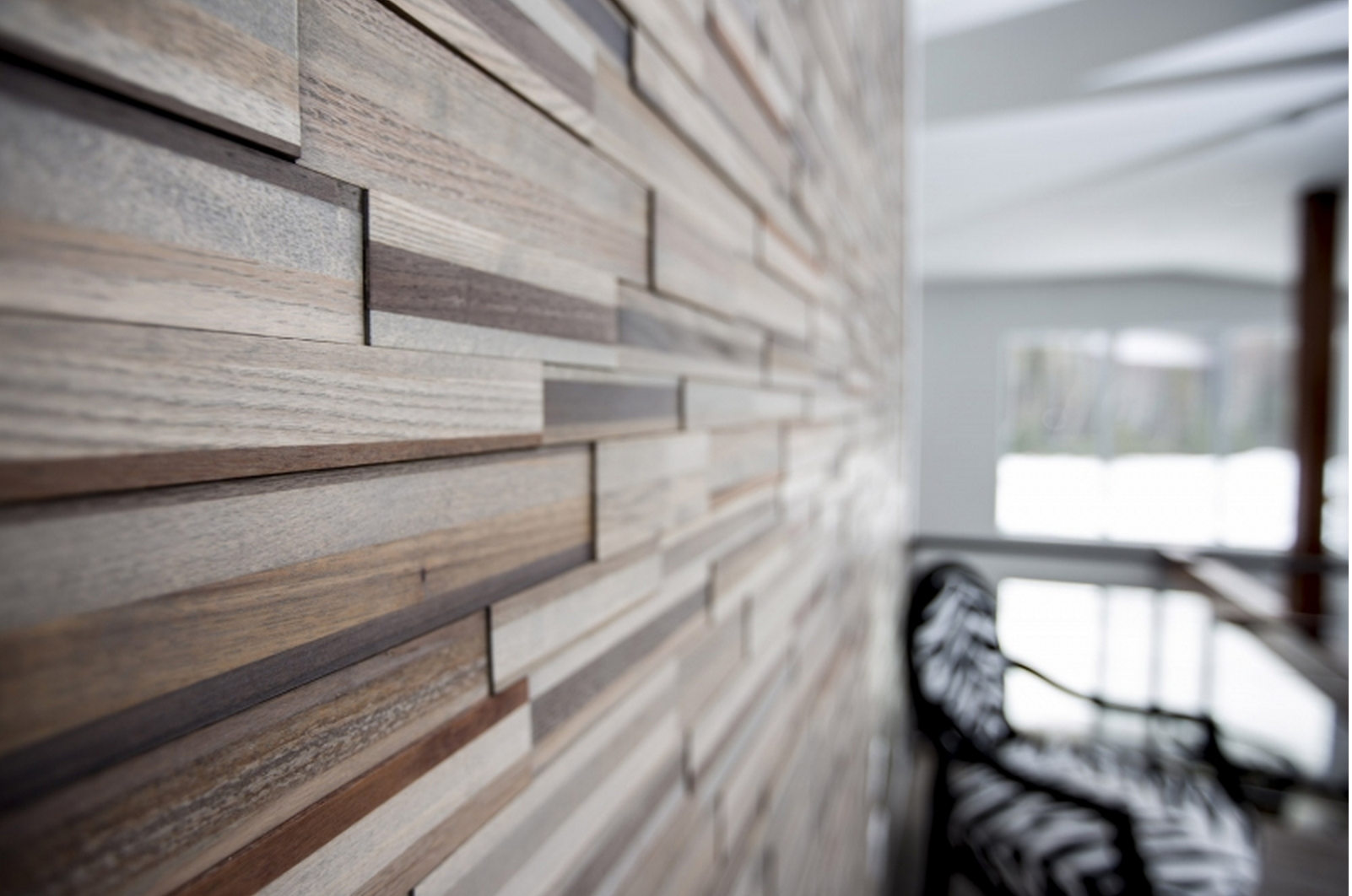 Bedroom Artistic Accent Walls That Use Slats To Look