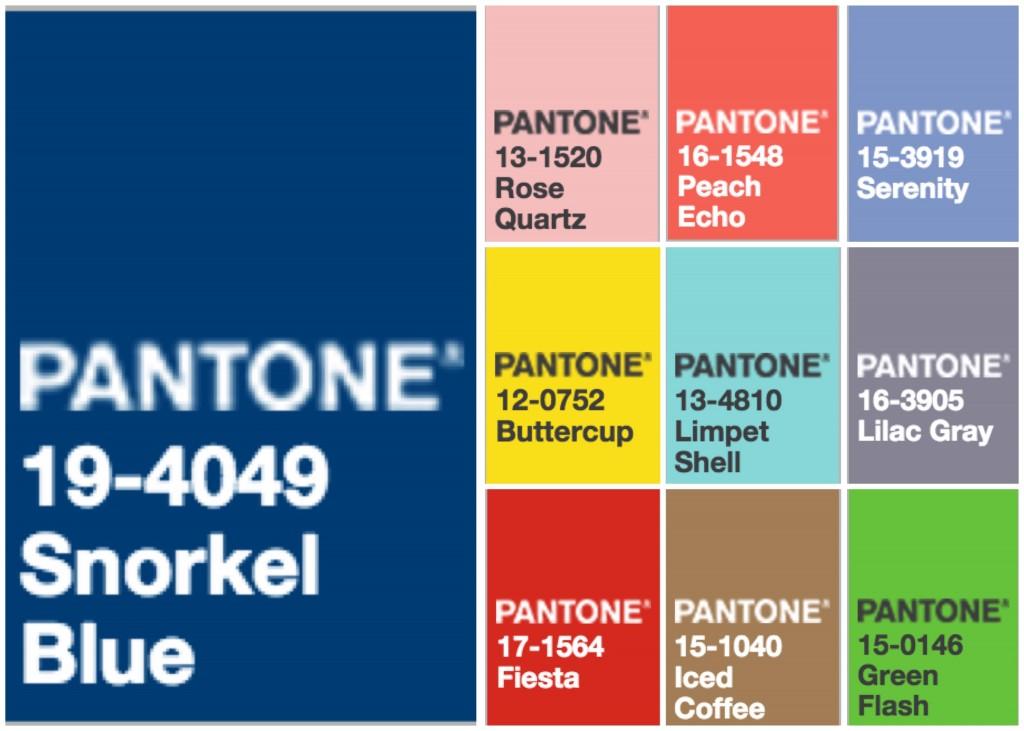 Pantone Fashion Colors 2016