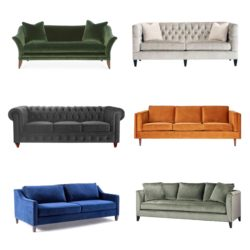 Crushing on Velvet Sofas