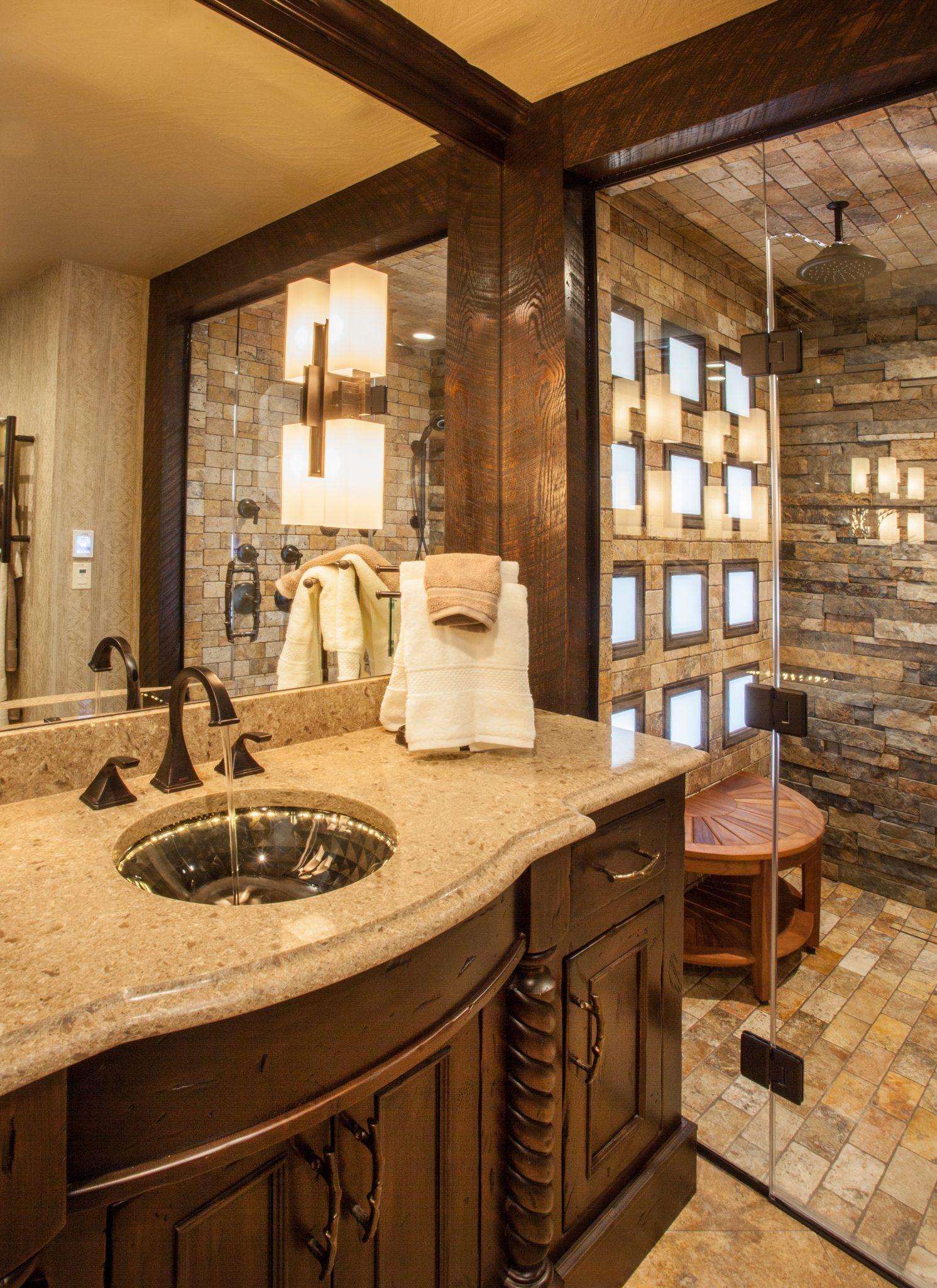 Rustic Elegance Master Bath Gina Mcmurtrey Interiors Llc