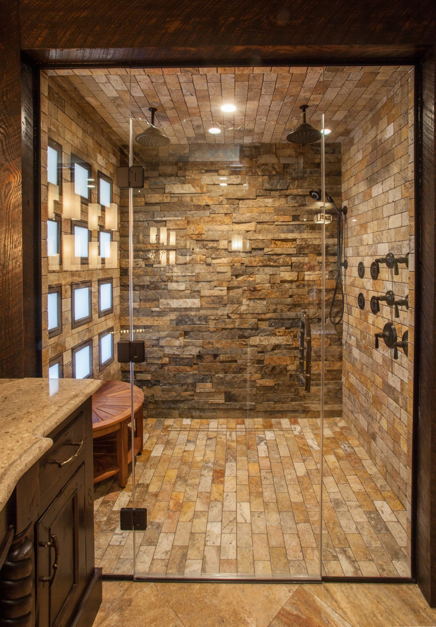 Rustic Master Bathroom Ideas: Gina McMurtrey Interiors LLC