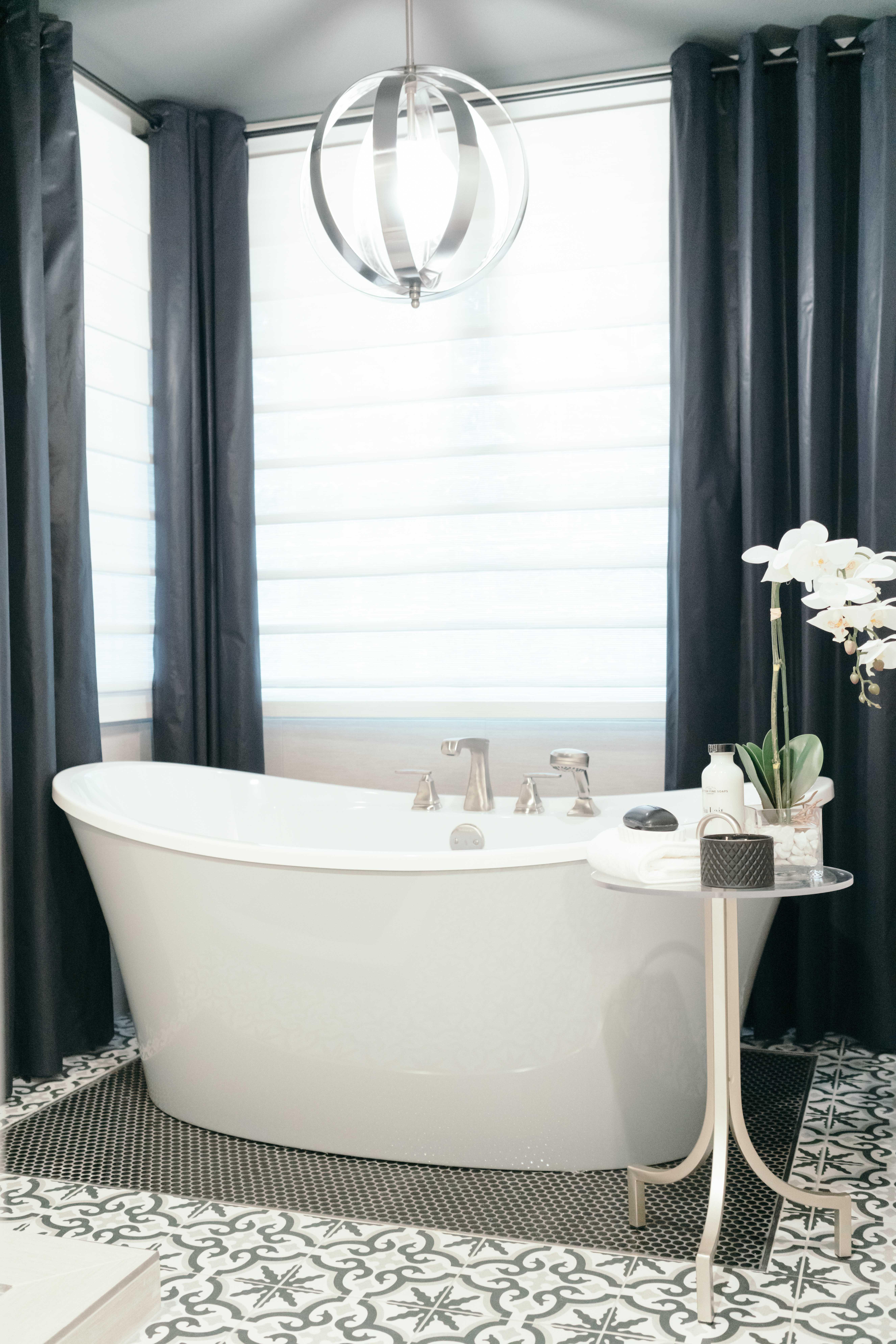 . Modern Black and White Bathroom   Gina McMurtrey Interiors LLC